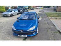 Peugeot 206 cc electric blue 2001 full mot