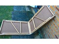 Folding fold up trestle table