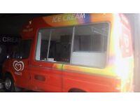 Transit soft scoop ice cream van.
