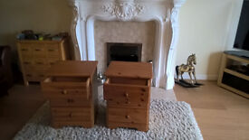 BEDSIDE TABLES PAIR IN PINE