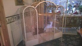 double parrott cage
