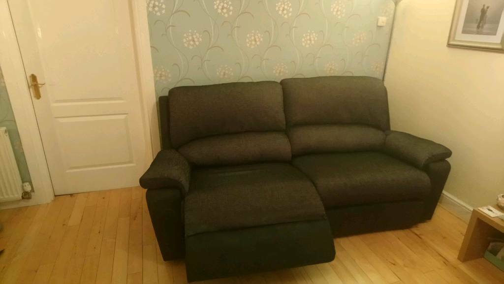 Awe Inspiring 3 Seater Dfs Electric Recliner Sofa As New Leather And Fabric Charcoal Colour Reclines In 2 Halves In Coatbridge North Lanarkshire Gumtree Gmtry Best Dining Table And Chair Ideas Images Gmtryco
