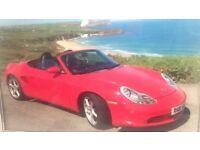 Red Porsche convertable
