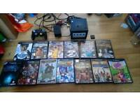 Ninetendo Game cube with 13 games controller and memory card