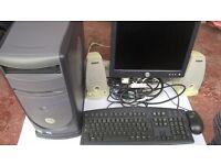 Dell Desktop Computer, Monitor and Accessories for Sale