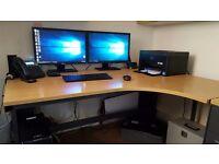 Heavy duty office corner desk