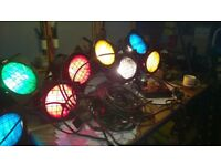 Vintage stage lights