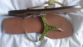L K BENNETT leather summer sandals. Size: UK 7-7.5; EU 40, US 9.