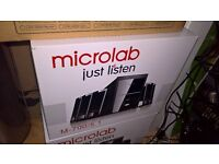 Brand New Boxed Microlab M700 5.1 Multimedia PC/Laptop/iPod Speakers