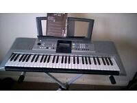 YAMAHA YPT-320 (with stand, power cable, headphones & manual) 61 keys