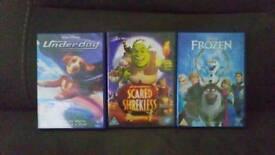 3 CHILD'S DVD'S .