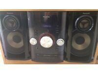 Panasonic stereo cd system player