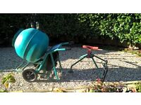 cement mixer with stand and power pack