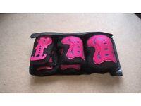 SFR Wrist/Elbow/Knee Pads and Helmet Pink £20