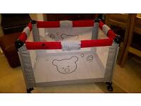 babylo folding travel cot