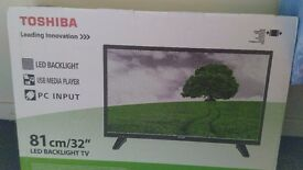 """New Toshiba HD Freeview 32"""" LED Backlight TV"""