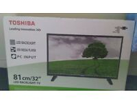 """New Toshiba HD Freeview 32"""" TV"""