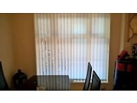 vertical blinds white, 175cm x 173cm, from Hilarys, very good condition, £45