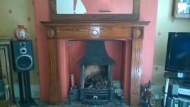 Fire Surround Dark Wood As New Pristine Condition