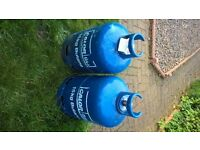 2 Calor gas 15 kg Butane gas bottles (1 Full and 1 half full)