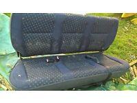 Passenger seats (3) for Fiat Scudo, Citroen dispatch or Peugeot partner