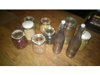 large storage jars and bottles