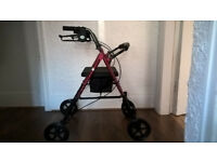4 wheel Rollator with seat and height adjustable