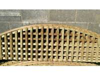 Arched garden trellis fence panels NEW