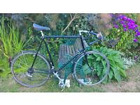 Men's road/touring bicycle 27in frame. Reynolds 531 tubing. 12 speed Shimano Biopace