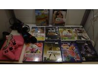 Pink Playstation 2 Singstar Bundle, Microphones Games, controller all wires, 1 months warranty