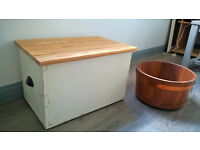 Solid wood small chest