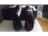 Ladies Dr. Marten Shoes Black Size 4. Made in England