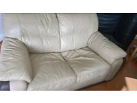 small 2 seater faux leather sofa