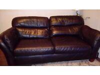 Black Leather Next 3 Seater Sofa (Free )