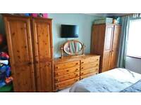Pine bedroom furniture - 10 pieces
