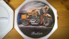 Franklin Mint Indian Motorcycle Plates