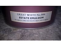 Farrow & Ball 5 liter 'Great White' estate emulsion UN-OPENED