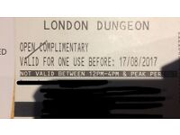 4 London dungeons tickets adult