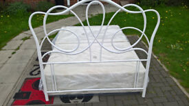 Ex-display White Metal Double Headboard.