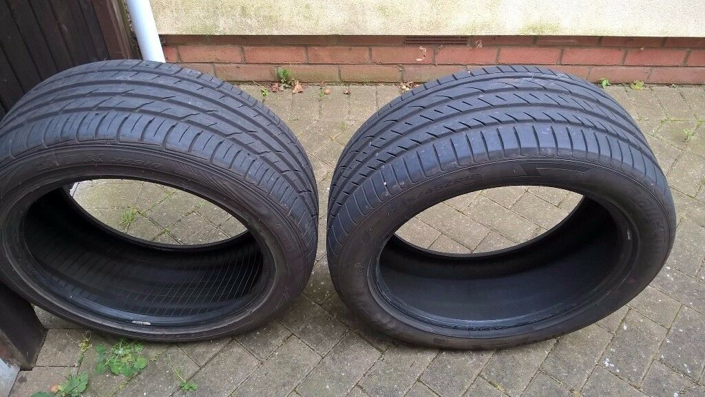 for sale 2 tyres 245x45x18 only done 300 miles from a Vauxhall insignia