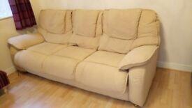Cream 3 seater Sofa Contour Fabric