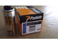 1 x Paslode IM65 Gas canister & 1 x box of (2000) F16 50mm straight brads