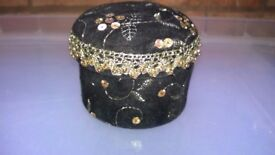 Black Velvet Trinket Box