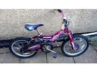 """Girls 14"""" Bike (ages 4-6)"""