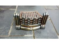 TALL VINTAGE FIRE GRATE AND BASKET/COAL HOLDER