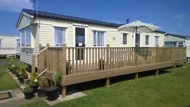 MODERN 3 BEDROOMED CARAVAN TO RENT/HIRE CHAPEL ST LEONARDS SKEGNESS WITH BEACH ACCESS BOOK NOW 2017