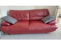*FREE* 3 seater red leather sofa