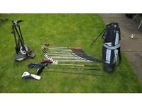 Full set of golf clubs - La Jolla irons 3 wood and putter, Macgregor driver, Taylormade rescue dual5