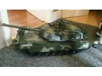 Childrens toy army tank