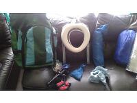 Camping set plus accesories